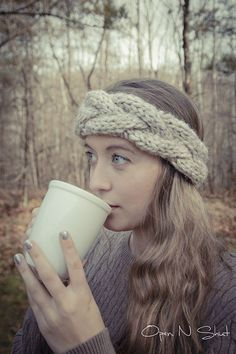 DIY:+chunky+cable+knit+headband