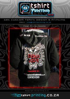 Custom hood printed on hoodie, cool hoody print, Awesome hoody