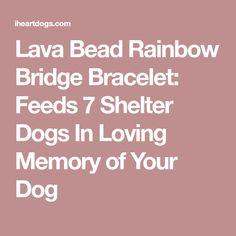 Lava Bead Rainbow Bridge Bracelet: Feeds 7 Shelter Dogs In Loving Memory of Your Dog
