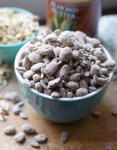 A sweet and crunchy snack that is lower in sugar, but just as delicious as the original version. #vegandessert #vegandesserts #coconutsugar #puppychow #muddybuddies #paleorecipes #healthyholidays #healthyholiday #grainfreevegan #grainfreeliving #grainfreerecipes #glutenfreerecipes #glutenfreeeats #detoxinista Paleo Dessert, Healthy Sweets, Healthy Snacks, Vegan Sweets, Vegan Snacks, Healthy Eating, Paleo Recipes, Real Food Recipes, Cooking Recipes