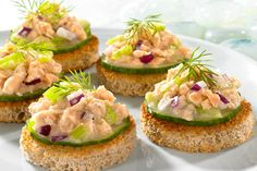 Salmon & Cucumber Canapes