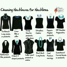 Choosing necklaces for neck lines
