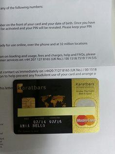 MasterCard de karatbars internacional Happy