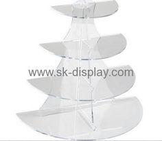 Acrylic display manufacturers customized 4 tier acrylic mini cake stand SOD-210