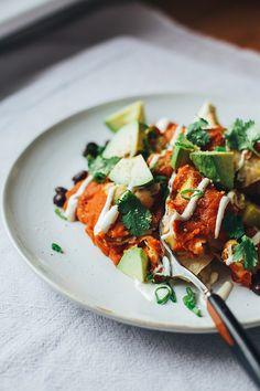 cozy vegan enchilada