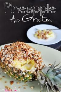 Pineapple Au Gratin is a gooey and crunchy dessert that is out of this world delicious!! So fun for a party!