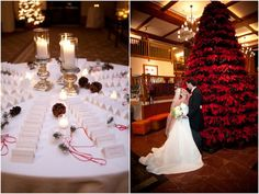 Winter Wedding Christmas Theme at Stowe Mountain Lodge #Vermont