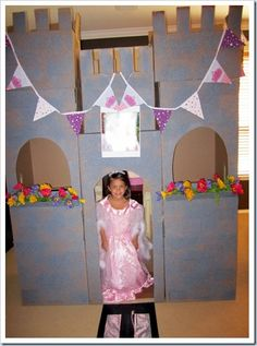 @ Lindsey Johnston-maybe next year? Trains & Tiaras Birthday Party for the Quads! Complete with DIY Castle & Train Tunnel
