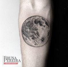 Detailed Moon Tattoo by Bruna Pereira