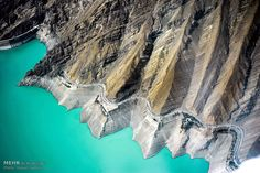 The amazing Amir Kabir Dam and its amazing emerald colour lake right next to Tehran in the mountains to the west Emerald Colour, Iran Pictures, Tehran Iran, Tourism, Mountains, History, Amazing, Water, Travel