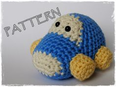 PDF - Amigurumi Car crochet pattern. via Etsy.