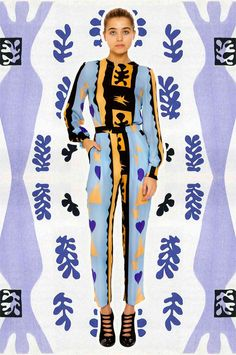 love this collage project by blogger/designer miss moss featuring a mash up of images from artist henri matisse and a recent collection by fashion brand tata naka / the boss aesthetic