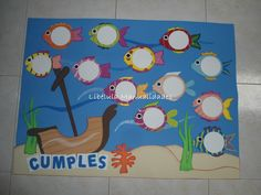 CARTEL DE CUMPLEAÑOS Classroom Birthday, Birthday Board, Classroom Decor, Alphabet Activities, Craft Activities, Attendance Chart, Art For Kids, Crafts For Kids, Birthday Charts