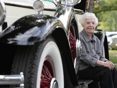 Margaret Dunning (102) bought her 1930 Packard 740 Roadster back in 1949 and restored it to mint condition.
