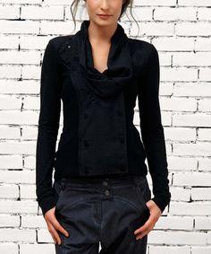 Black Cowl Neck Top, love the pants :)