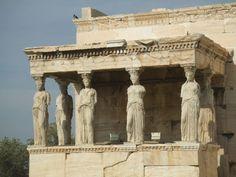 Kore Porch (or Caryatids' balcony), Acropolis, Athens, Greece