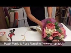 Packaging gift wrapping-Bouquet - YouTube