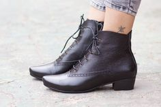 SALE 20% OFF Leather Boots Ankle Boots Leather by BangiShop