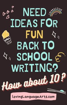 10 Back-to-School ELA Writing Ideas That Will Make Your Students Think YOUR Class is the Coolest! Get them acquainted, comfortable, and interested in writing with these great language arts activities. Make them look forward to writing in your class and excited to learn! Writing Lessons, Writing Activities, Writing Ideas, Middle School Ela, Middle School English, Curriculum Night, Teaching Language Arts, Elementary Schools, Upper Elementary