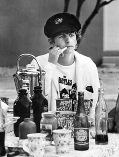 Ringo Starr wearing a Beatles jumper