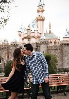 Engagement photos at the happiest place on earth