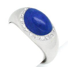 Foto 1, Neu! Topdesign! Lapislazuli-Diamantring Luxus Portofrei, S8375