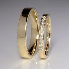 Verighete de aur gravate | Modele simple aur galben | Aur alb | Design Ideas