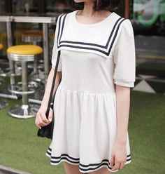 Sailor dress....slightly longer and I'd wear the hell out of this!