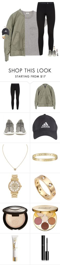 """be tough."" by maggie-prep ❤ liked on Polyvore featuring Yves Saint Laurent, adidas, adidas Originals, Cartier, Michael Kors, Becca, tarte, Chanel and Kylie Cosmetics"
