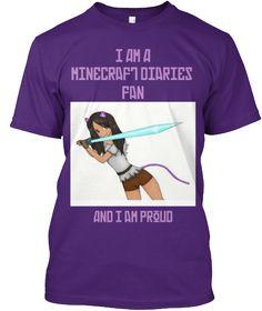 cd2826cd9ec I Am A Minecraft Diaries Fan   Teespring Aphmau Merch, Minecraft Outfits,  Minecraft Clothes