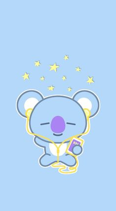 Kawaii Koala Duvet Cover by kawaiistudio - Queen: x Cute Disney Wallpaper, Emoji Wallpaper, Cute Cartoon Wallpapers, Kawaii Wallpaper, Wallpaper Iphone Cute, Aesthetic Iphone Wallpaper, Aesthetic Wallpapers, Iphone Wallpapers, Heart Wallpaper