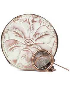 Patricia Nash Tooled Mini Scafati Key Chain Pouch