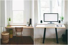 Рабочий стол из небольшого подоконника #interior #мебель #дизайн #интерьер #дом #уют #декор
