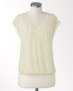 Crystal pleat top | Coldwater Creek