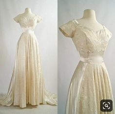 Vintage Dresses Vintage Wedding Dress Cahill Wedding Gown by xtabayvintage - Antique Wedding Dresses, Vintage 1950s Dresses, Modest Wedding Dresses, Vintage Outfits, Vintage Fashion, Event Dresses, Pretty Dresses, Beautiful Dresses, Gorgeous Dress