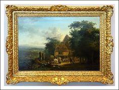 Dipinto fiammingo olio su tavola Karel Van Falens (1683-1733)