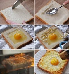 Egg In A Toast With Cheese