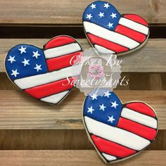 Stars and Stripes heart cookie