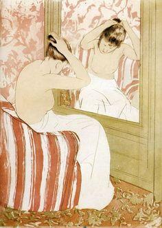 Mary Cassatt - The Coiffure (1890-1891)
