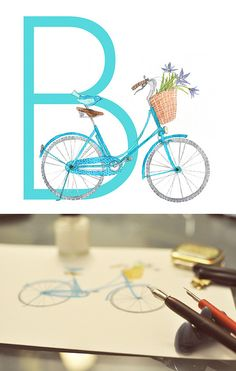 B is for bicycle by oanabefort, via Flickr