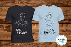 276c58c1a5c63a Cinderella and Prince Charming    Couple Shirts    Fairytale    Favorite  Love Story    Disney Shirts    Disney World    Disney Vacation