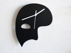 Phantom of the Opera Mask Silhouette - Wall Clock on Etsy, $24.00