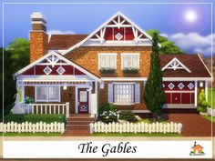 The Gables is a family home built on a 30 x 20 lot.  Found in TSR Category 'Sims 4 Residential Lots'