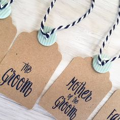 Wedding Name Tag Navy and Mint by Creationery on Etsy