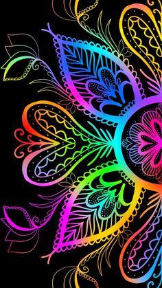 Mandala Wallpaper, Phone Wallpaper Boho, Wallpaper Nature Flowers, Mandala Artwork, Neon Wallpaper, Mandala Drawing, Cute Wallpaper Backgrounds, Cellphone Wallpaper, Pretty Wallpapers