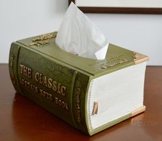 Gift Idea for Book Lovers – a Book Tissue Box Dispenser ...