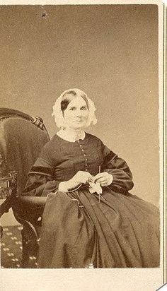 Knitting during the Civil War. I LOVE that she had her picture taken with her project, that so would have been me.