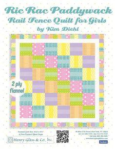 Rail Fence Quilt for Girls by Kim Diehl