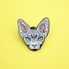 Sphynx Mens Jewelry a tie pin with a cat a with a Cute Artdog cat