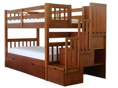 Bedz King Bunk Beds Tall Twin Over With Stairway Honey Want Additional Info Click On The Image